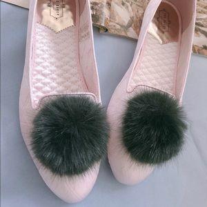 Ted Baker London Iveye Pink Pom Pom slipper flats